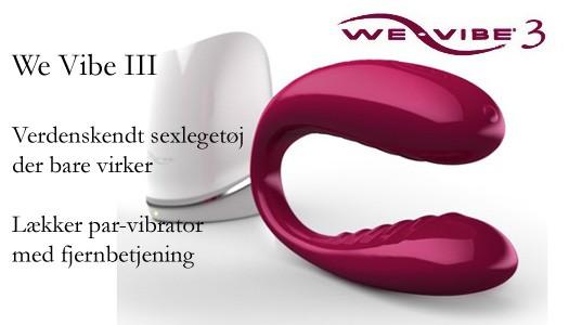 We Vibe III  lækker silicone parvibrator med radiostyret fjernbetjening